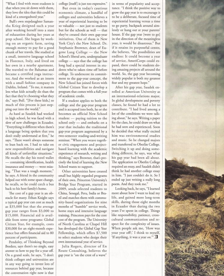 Tucker Coombe's Gap Year Piece in Brain World Magazine – En